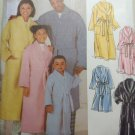 Easy Unisex Child's, Teen's, & Adults' Robe Simplicity 5931 Sewing Pattern , Uncut