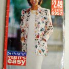Easy Misses' Jacket and Dress Butterick 6957 Pattern, Size 6 8 10, Uncut