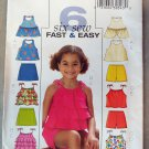 Butterick B4503 Girl's 6 Tops Skort and Shorts Pattern, Size 2 3 4 5, Uncut