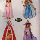 Butterick B4631 No-Sew Child Girls' princess Costumes Pattern, Size 2 3 4 5, Uncut
