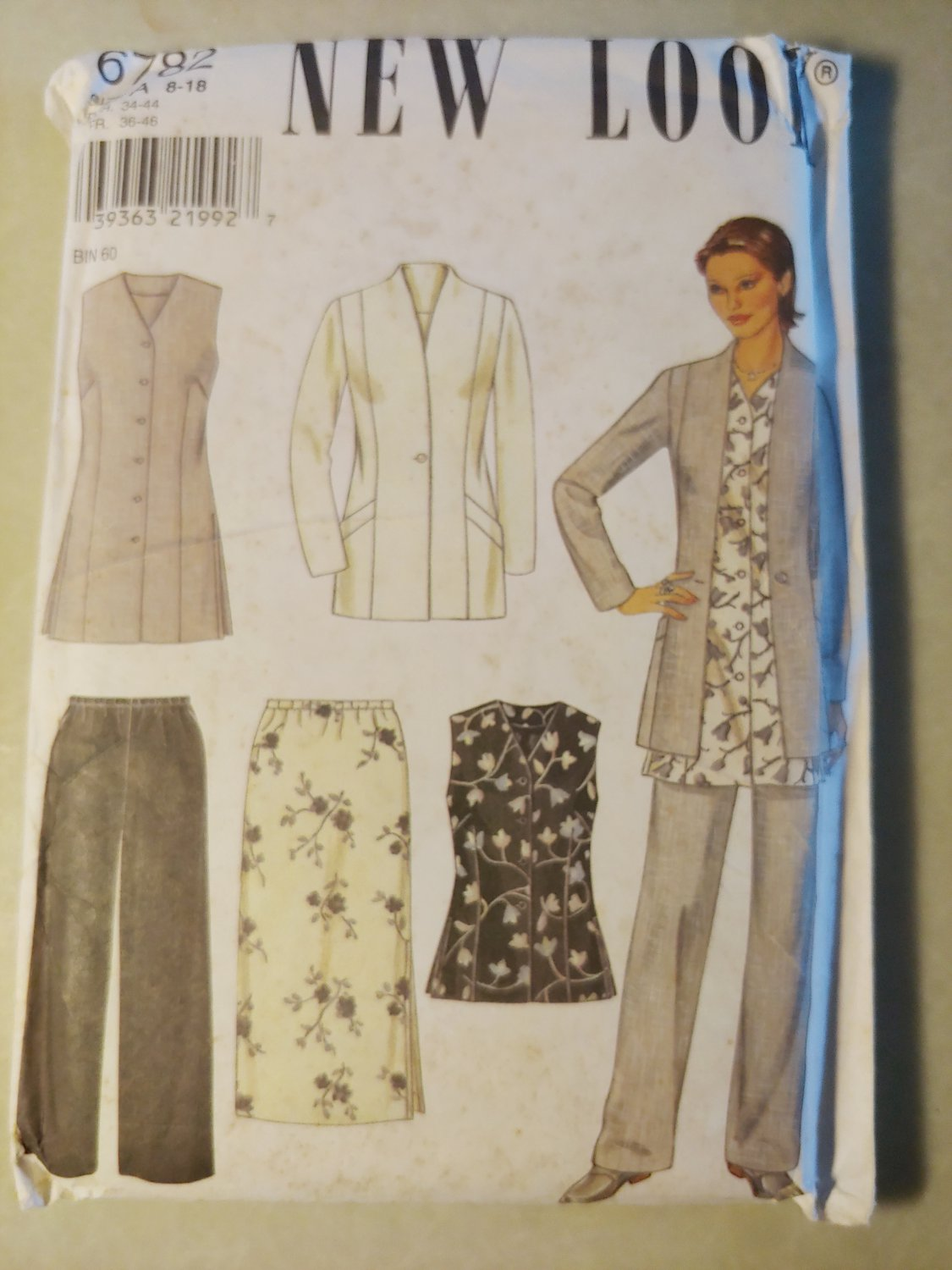 New Look 6782 Misses'  Jacket, Skirt, Top and Pants Pattern, Size 8 to 18, Uncut