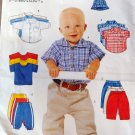 Infant-Toddler Shirt, T-shirt, Pants, Hat Sewing Pattern Size  NB to 18 med, UNCUT