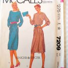 Misses' Dress for knit fabric  McCalls 7209 Pattern, Small 10 12, UNCUT