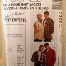 Unisex RShirt Jacket McCalls 7308 Pattern, Plus Size XL, XXL Uncut