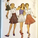 Vintage 1970's Misses Pleat Skirts  Simplicity 9823 Sewing Pattern,  Sz 12, Uncut
