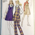Vintage 1970's Misses Mini Jumper & Pants   Simplicity 8981 Sewing Pattern,  Sz 12, Uncut