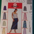 Easy  McCalls 2255 Misses Bias  Skirt Pattern, Size 12 14 16, Uncut