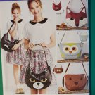 Simplicity 1181 Sewing Pattern Craft Pattern - Dog Cat Fox Owl Animal Bags      Uncut
