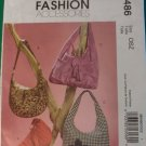 McCalls Fashion Accessories Sewing Pattern M5486 Hobo BAGS UNCUT