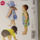 McCalls M6309 Pattern INFANTS' DRESS, PANTIES, ROMPER, DIAPER COVER AND HATS