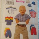 Baby Shirt, T-shirt, Pants, Hat Sewing Butterick B5510 Pattern Size Lg XLrg UNCT