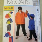 Boys Unlined Jacket Pants & Hat McCall's 4234 Pattern,  Sz Xsm Sm, UNCUT