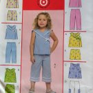 McCalls M5031 Pattern, Girls Tops, Shorts, and Capri Pants, Sizes1. 2, 3, UNCUT