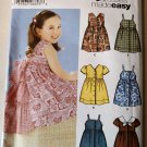 Girls Dress bodice and skirt variations Simplicity 5580 Pattern, Size 3 to 8, Uncut
