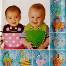 Simplicity 2468 Animal Baby Bibs  frog Lady Bug and More Sewing Pattern uncut