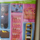 Simplicity 5124 Pattern, teen HOME Decorating Room Organizers, Uncut FF