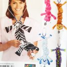 Simplicity 1730 5 fun Stethoscope Covers Pattern, dogs monkey Uncut FF