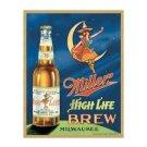 Miller High Life Brew Milwaukee Tin Sign