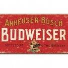 Budweiser - Anheuser-Busch Bottled at the Brewery Tin Sign