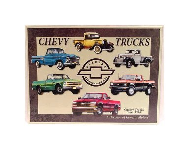 Chevy - Truck Tribute Tin Sign
