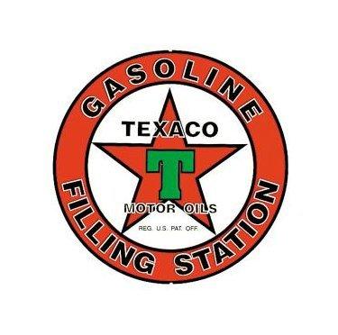 Texaco - Gasoline Filling Station - Round Sign