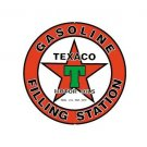 Texaco - Gasoline Filling Station - Round Sign