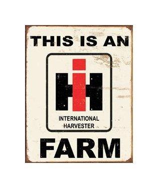 International Harvester - This is an International Harvester Farm Tin Sign