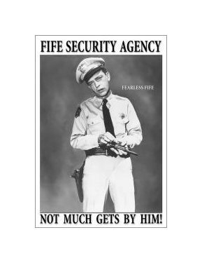 Andy Griffith - Barney Fife Security - Not Much Gets By Him Tin Sign