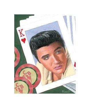 Elvis Presley - King of Hearts Tin Sign