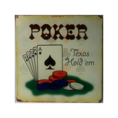 Poker - Texas Hold Em Tin Sign