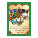 Golf - It's Golf - Air Waves Tin Sign