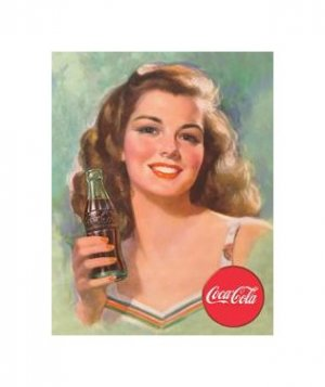 Coca Cola - Coca Cola Girl, Beautiful Brunette Tin Sign
