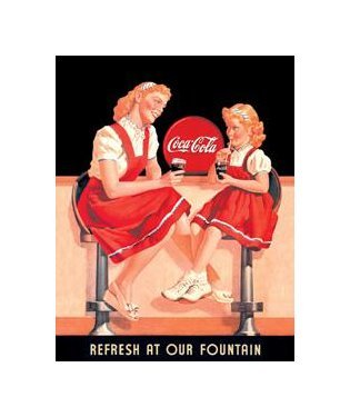 Coca Cola - Refresh at Our Fountain Tin Sign