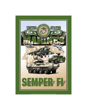 United States Marines - Semper Fi Tin Sign