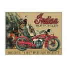 Indian Motorcycles - Model 101 Indian Scout Tin Sign