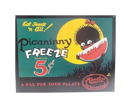 Picaninny Freeze - Hendlers Ice Cream Tin Sign