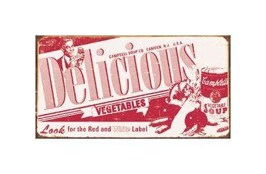 Campbell's Delicious Vegetable Soup Tin Sign