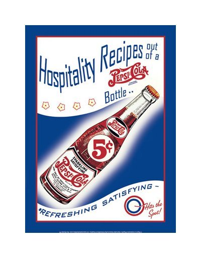 Pepsi Cola - Hospitality Recipes Tin Sign