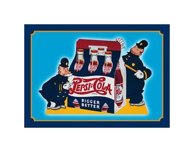 Pepsi Cola - Better Cops Tin Sign