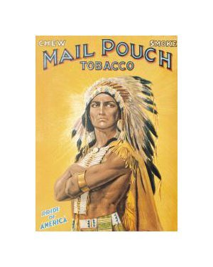 Mail Pouch Tobacco Indian Tin Sign