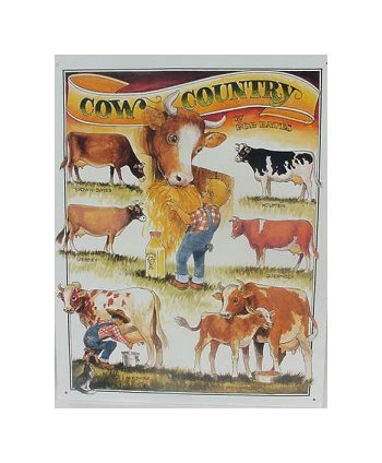 Cow Country - by Bob Bates Tin Sign