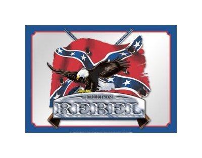Freedom Rebel Tin Sign