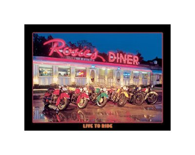 Rosie's Diner - Motorcycles - Live to Ride Tin Sign