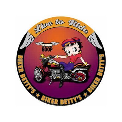 Betty Boop - Biker Betty's - Born to Boop - Live to Ride Round Tin Sign