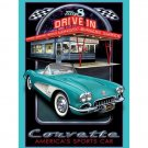 General Motors '58 Corvette Diner Tin Sign