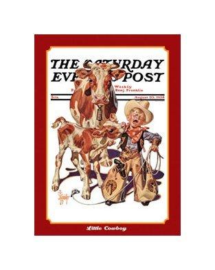 Saturday Evening Post - Little Cowboy Tin Sign
