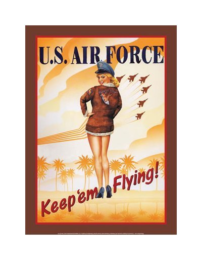 United States Air Force - Keep em Flying Tin Sign
