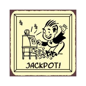 Jackpot - Metal Art Sign