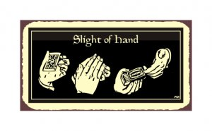 Slight of Hand - Metal Art Sign