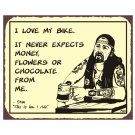 Biker Stan - I Love My Bike - Metal Art Sign